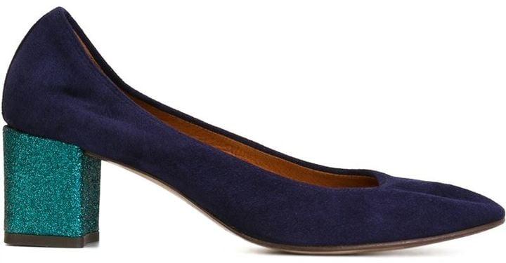 Lanvin Glitter Heel Pumps ($595)
