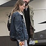 Michael Polish accompanied Kate Bosworth on her Homefront set in New Orleans.