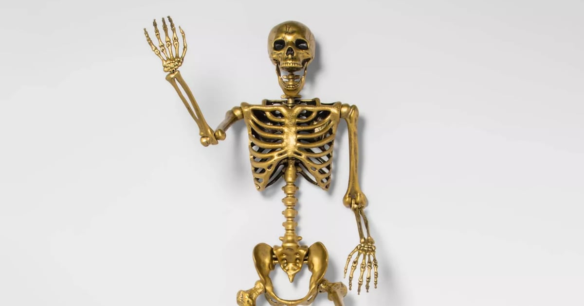 Target Is Selling a 5-Foot-Tall Gold Skeleton, and the Displays Are Hilarious