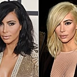 Kim Kardashian: Dark brunette to ice blonde.