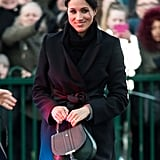 Meghan Markle carried the same bag a year earlier, on a visit to Cardiff with Prince Harry.