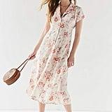 Urban Renewal Vintage Remnants Floral Button-Down Midi Dress