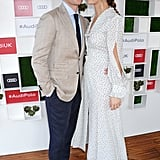 Matt Smith and Lily James at the Audi Polo Challenge