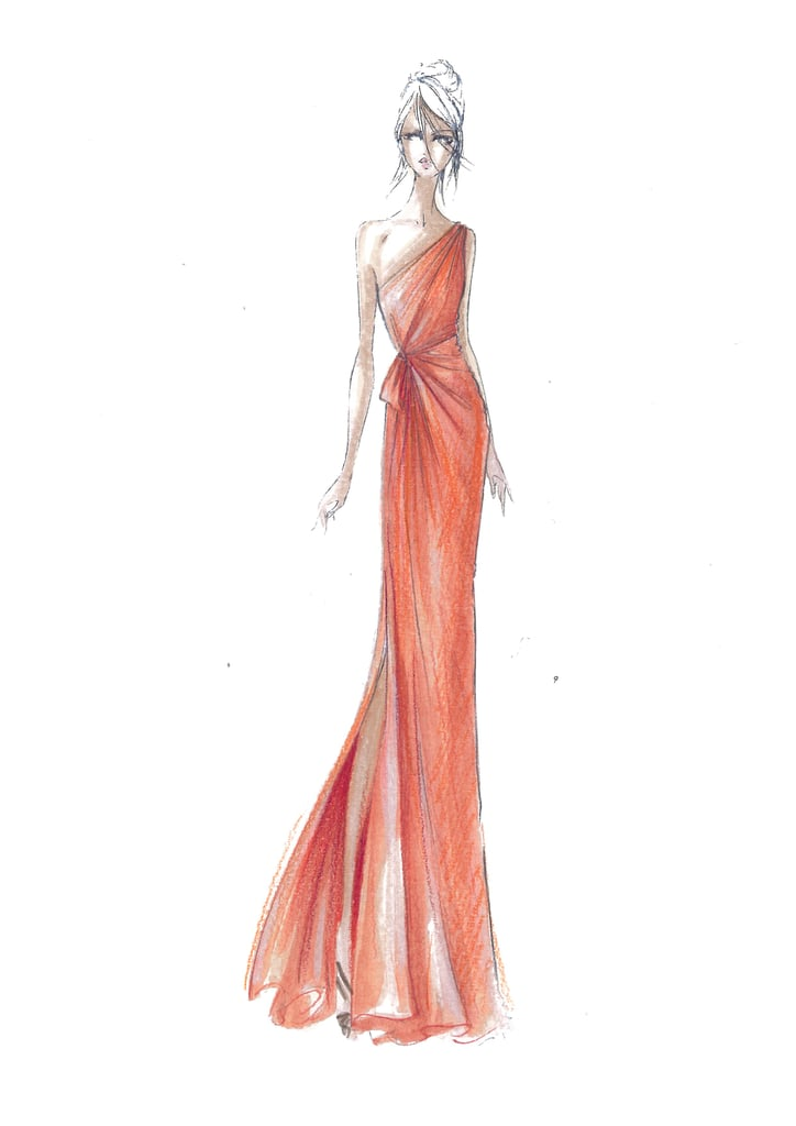 Alberta Ferretti for Macy's Impulse sketch