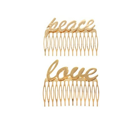 Love And Peace Hair Combs (approx $16)