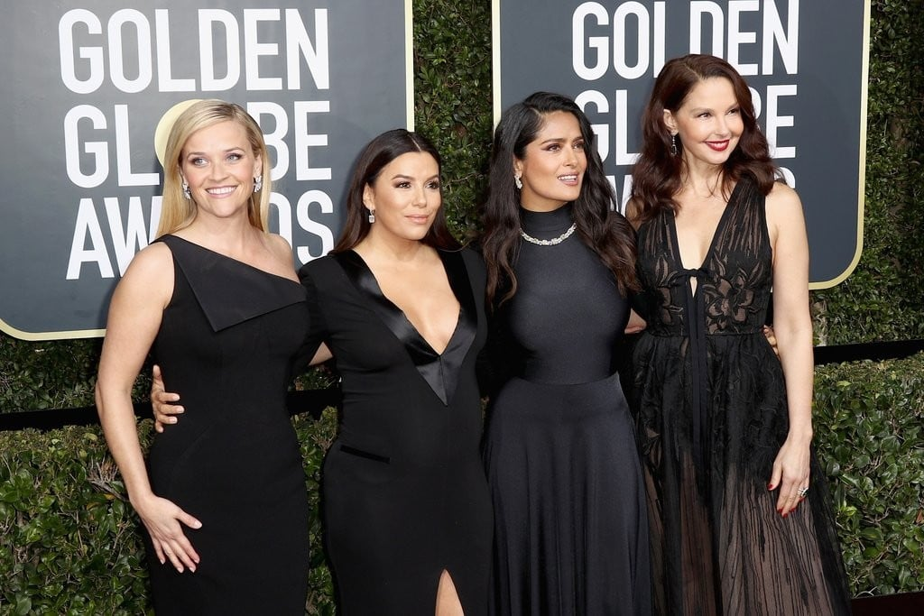 Women Wearing Black at the Golden Globes 2018