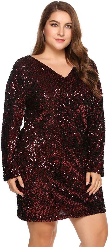 Zeagoo Curve Glitter Sequin Dress