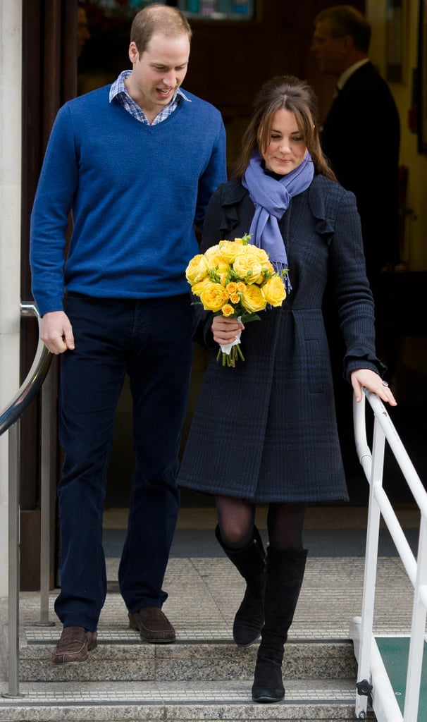 Kate Middleton left a London hospital.