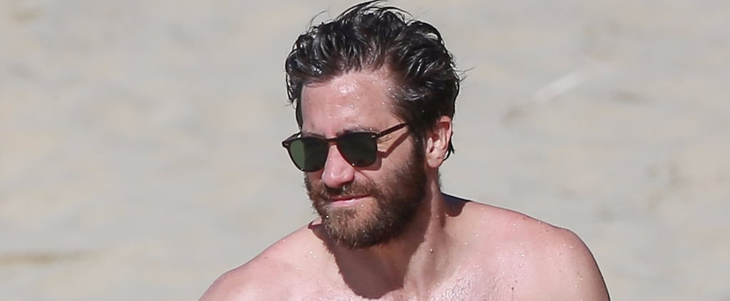 Please Enjoy These Really Hot Shirtless Photos of Jake Gyllenhaal on the Beach