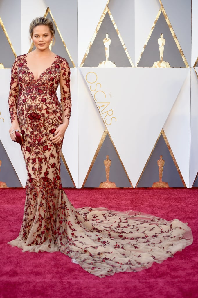 Chrissy Teigen's Marchesa Dress at Oscars 2016