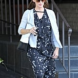 Jennifer Garner wore a floral dress to run errands with Ben Affleck in LA.