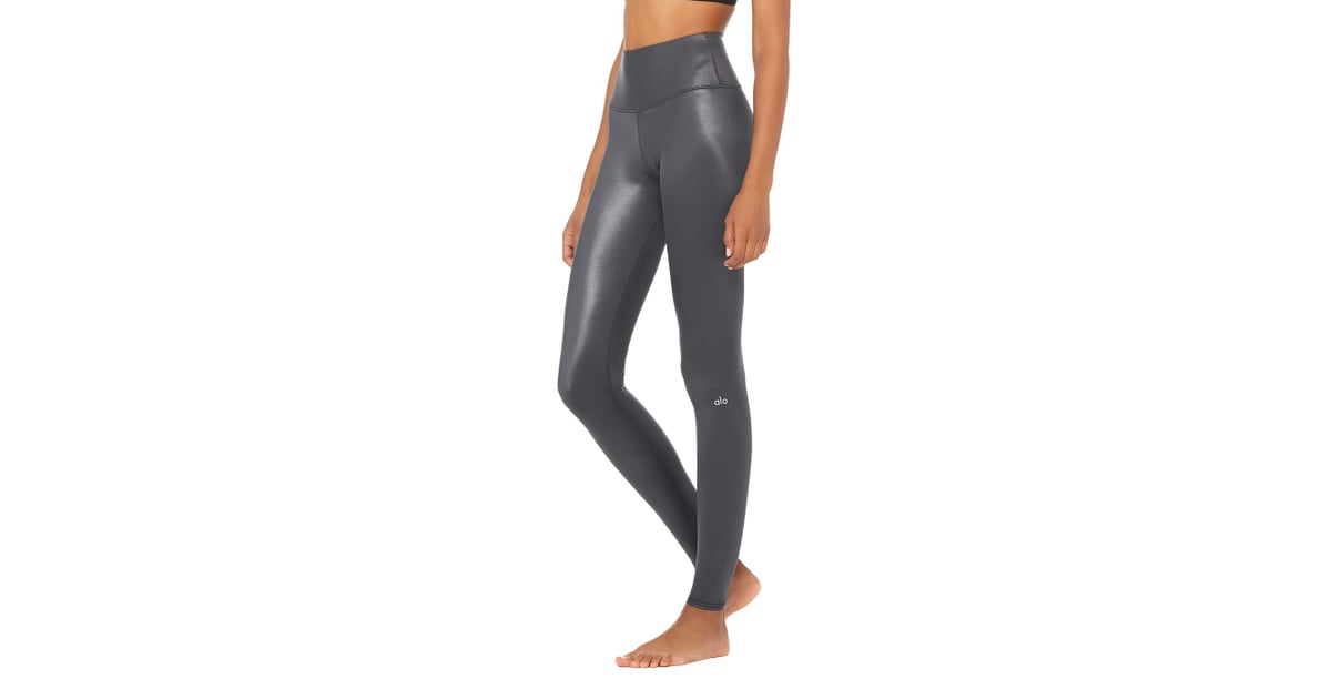 bad7ba970de86 Alo High-Waist Shine Legging | Best Leather Leggings | POPSUGAR ...