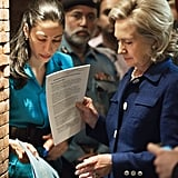 Abedin helped Clinton prepare during a town hall meeting in Pakistan in 2010.