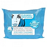 Essenzza Cleanse and Moisturise Natural Facial Cleansing Wipes, $6.99