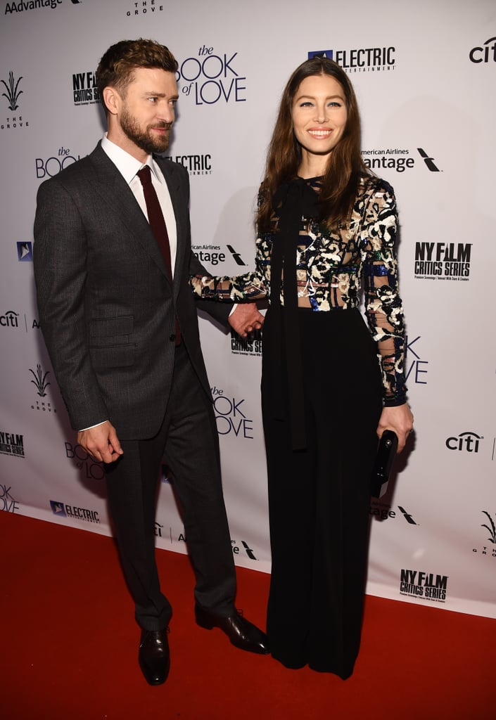 Jessica Biel and Justin Timberlake at Book of Love Premiere