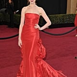 Anne definitely made an entrance in Valentino Couture at the 2011 Academy Awards.