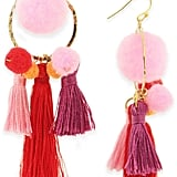 Taolei Pink-Pom Tassel Earrings