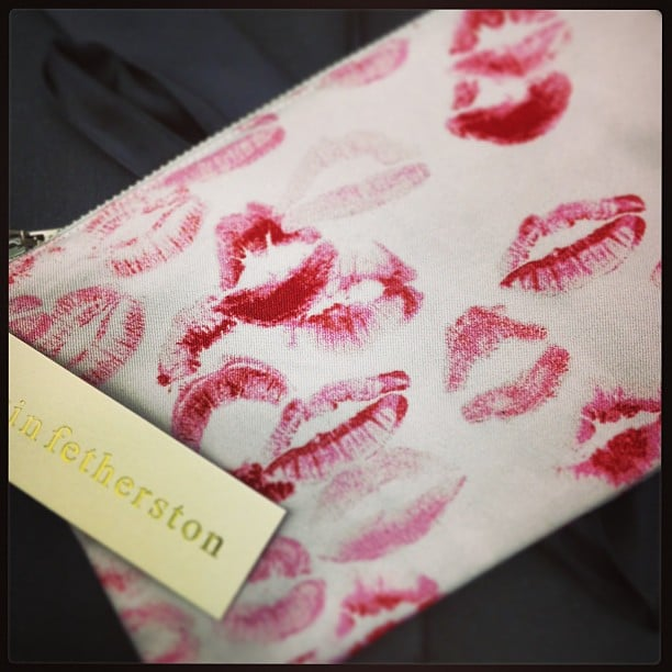 Erin Fetherston got us into the Valentine's Day mood with sweet kisses.