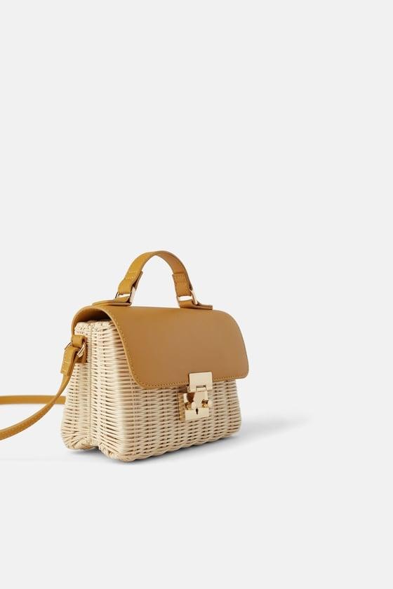 Zara Woven Mini Crossbody Bag