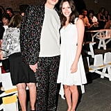 Amanda de Cadenet and Cameron Silver arrived at Eyebeam for the Christian Siriano runway show.