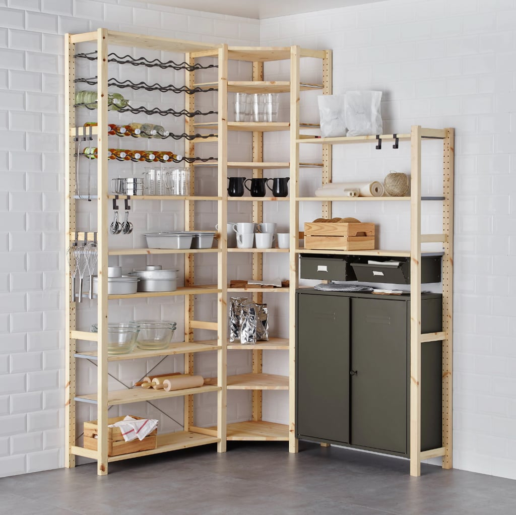Ivar 3-Section Shelving Unit With Cabinet