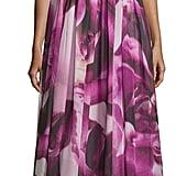 Monique Lhuillier One-Shoulder Floral-Print Gown, Orchid ($459)