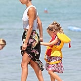 Nicole Richie held on to Harlow Madden's hand in Saint-Tropez.