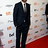 Adam Levine popped up to promote his film Can a Song Save Your Life? at the red carpet premiere.