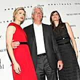 Richard Gere posed with costars Brit Marling and Laetitia Casta at the Arbitrage premiere in NYC.