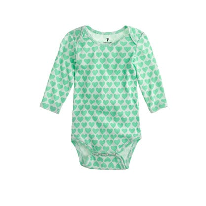 Baby One-Piece in Heart Stack ($25)