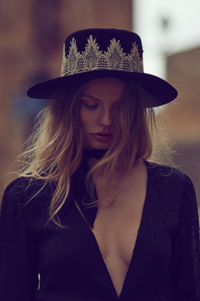 Make sure your fedora is next-level when you invest in a spectacular piece like the For Love & Lemons La Noche Hat ($300)
