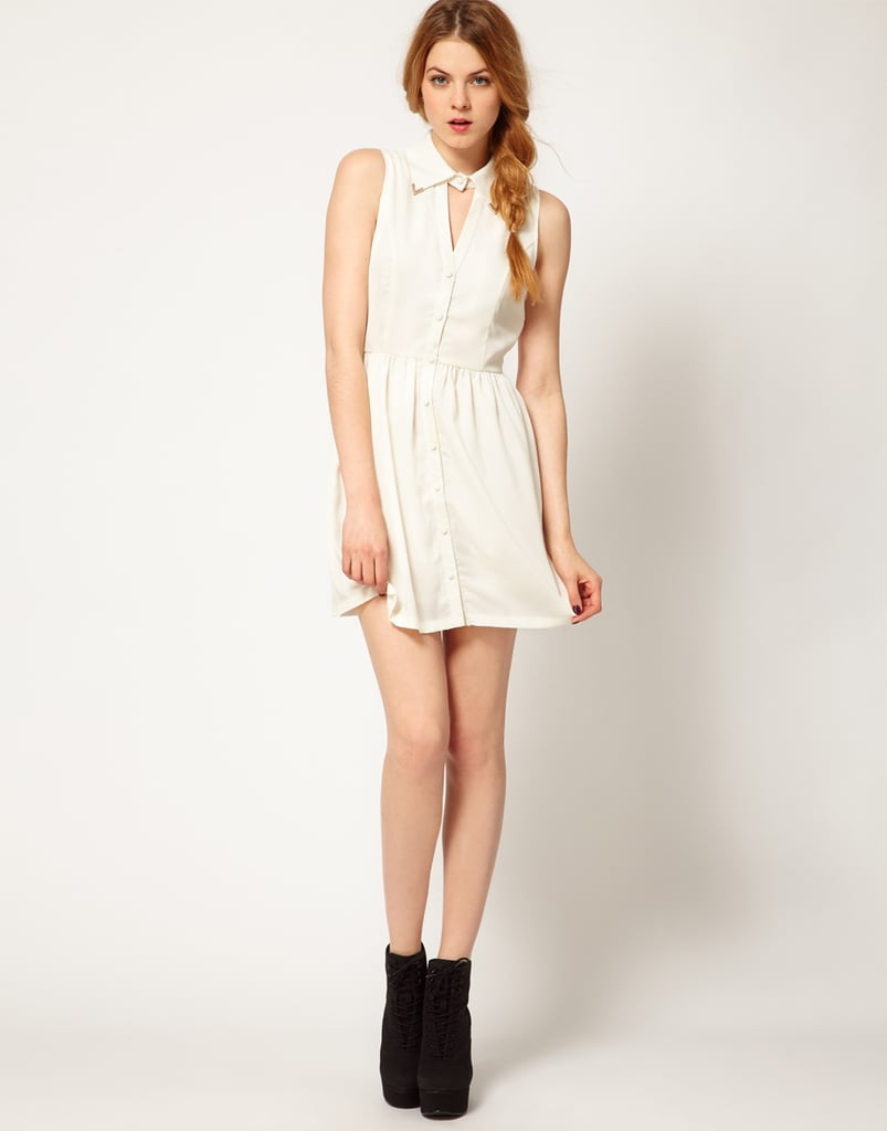 The cutout collar offsets the sweetness with a little edge on this Glamorous Collar Tipped Shirt Dress ($55).