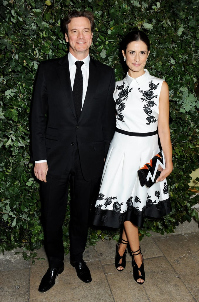Colin Firth supported his wife, Livia, who was one of the event's hostesses.