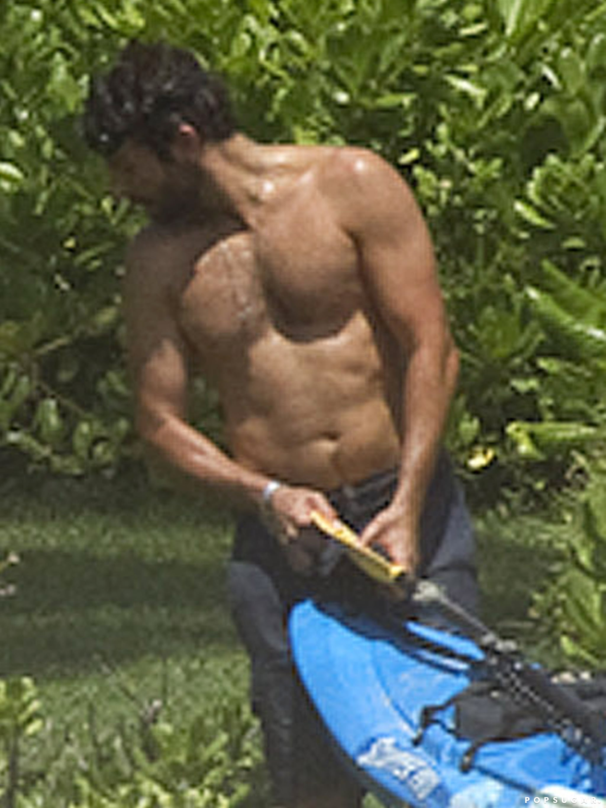 Bradley Cooper went shirtless in Hawaii.