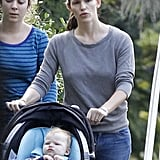Jennifer Garner and baby Samuel went out to grab breakfast in New Orleans.