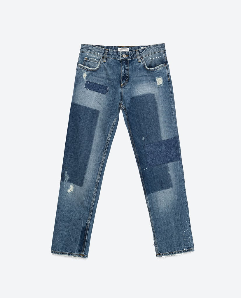 Zara Vintage Patch Detail Jeans ($70)