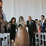 Bride Leaves Wheelchair to Walk Down the Aisle
