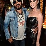 Lenny Kravitz and Katy Perry
