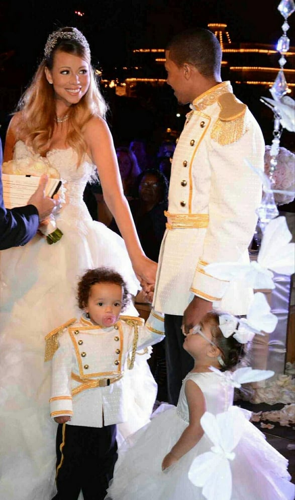 Mariah Carey and Nick Cannon wore fairy-tale-themed outfits for their vow renewal.  Source: Twitter user MariahCarey