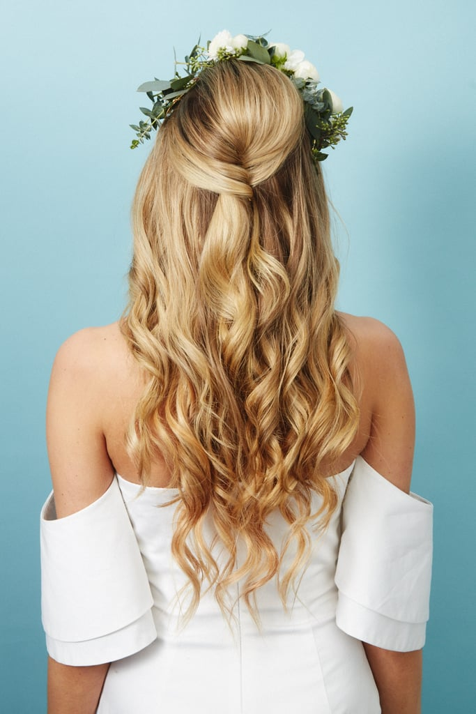 The Hairstyle: Half-Up Twist With Waves