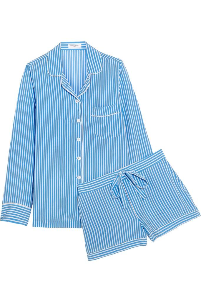 Equipment Lillian Striped Washed-Silk Pajama Set ( 390)  864ee6c72