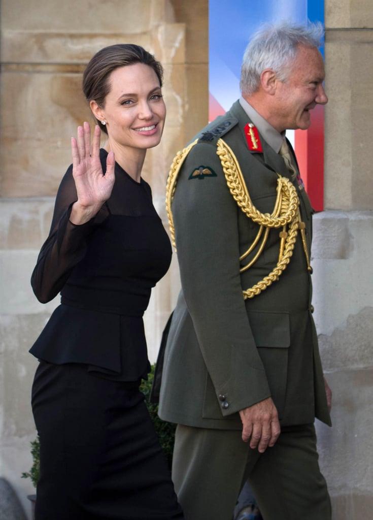 Angelina Jolie Wears Black Dress in London Sept. 2016 | POPSUGAR ...