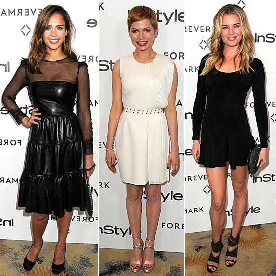 Jessica Alba, Michelle Williams and more Celebrities Frock Up for InStyle and Forevermark's Pre-Golden Globes Party in LA