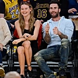 At a Los Angeles Lakers Game
