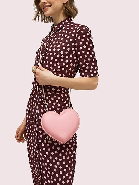 3D Heart Crossbody in Rococo Pink