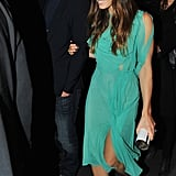 Wearing Nina Ricci, Jessica Biel, along with and her husband, Justin Timberlake, attended the afterparty following the premiere of her new movie, Playing For Keeps, in NYC.