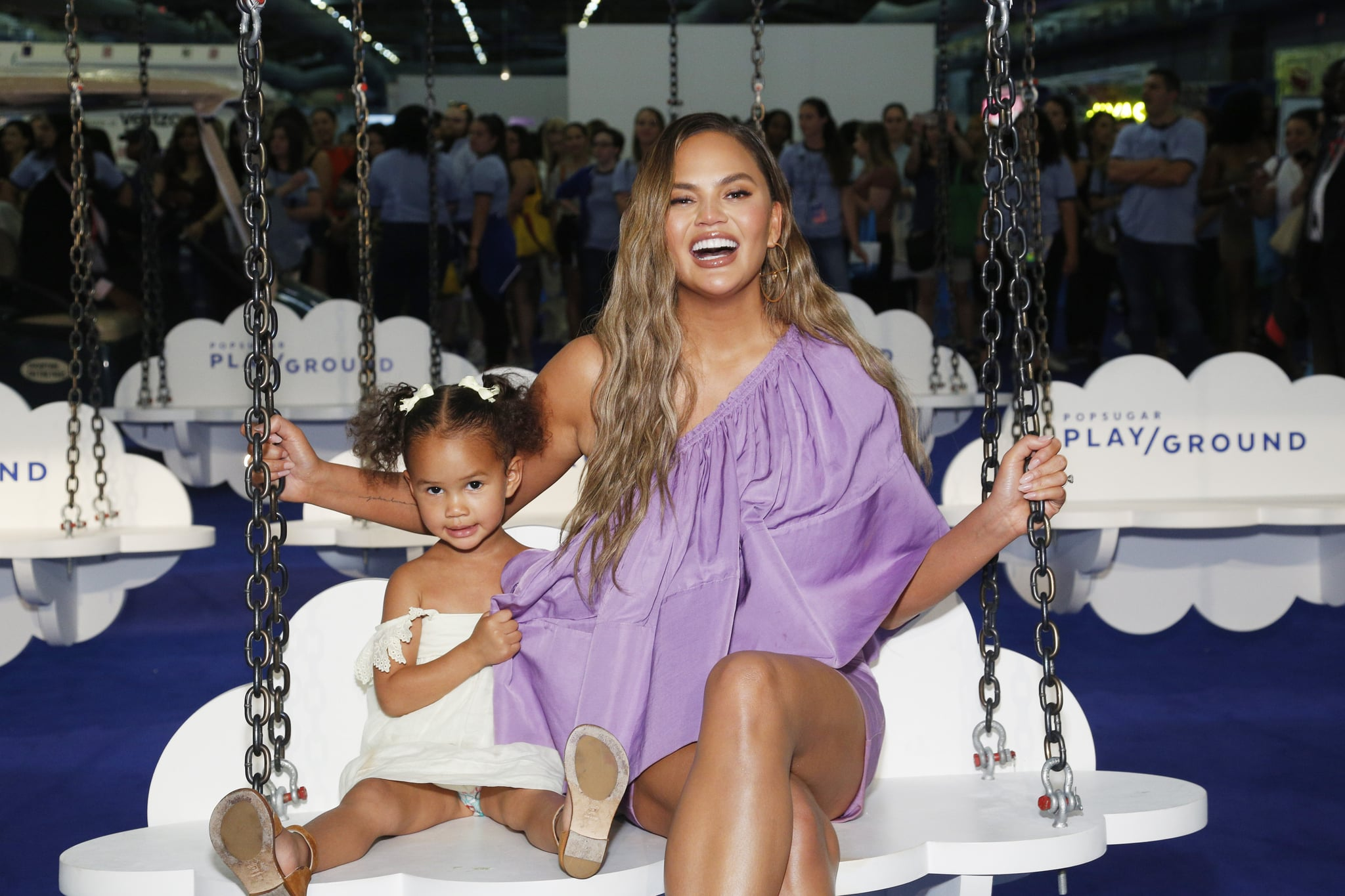 Luna Stephens and Chrissy Teigen