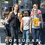 Paulina Slagter and Ava Phillippe carried their drinks to the car.