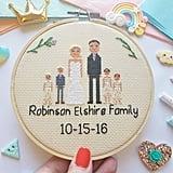 Personalized Cross-Stitch Family Portrait