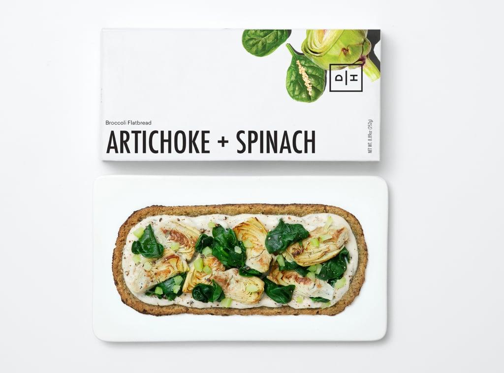 Artichoke + Spinach Flatbread With Broccoli Crust